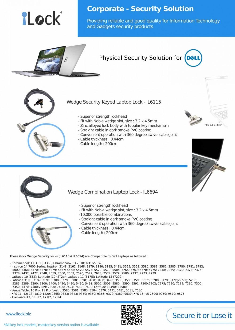 iLock Lock for Dell Laptop